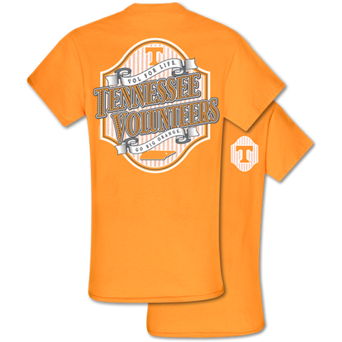 Southern Couture Classic Tennessee Vols Seersucker T-Shirt