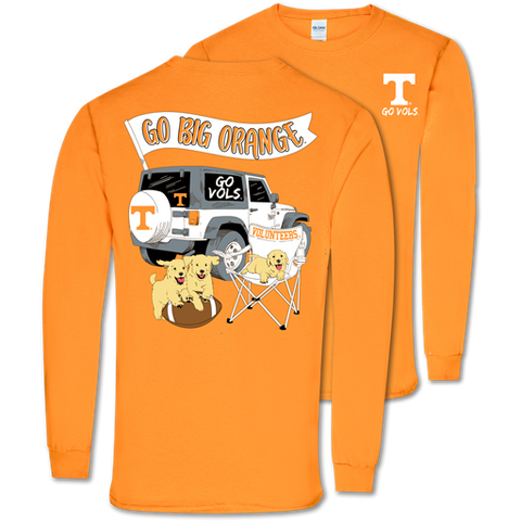 Southern Couture Classic Tennessee Vols Jeep Long Sleeve T-Shirt