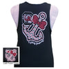 South Carolina Gamecocks Anchor Bow Girlie Bright Tank Top