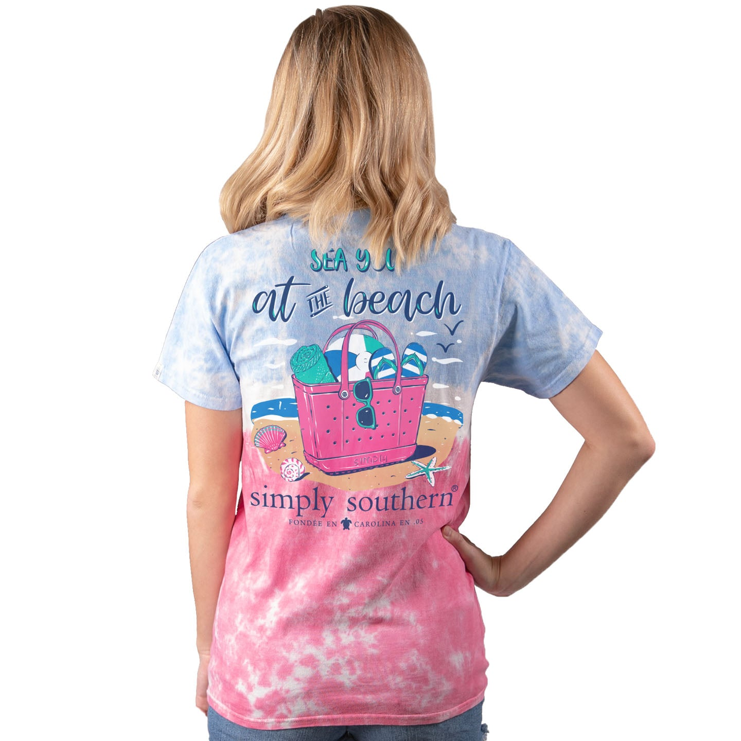 Simply Southern Preppy Sea You At The Beach Tie Dye T-Shirt