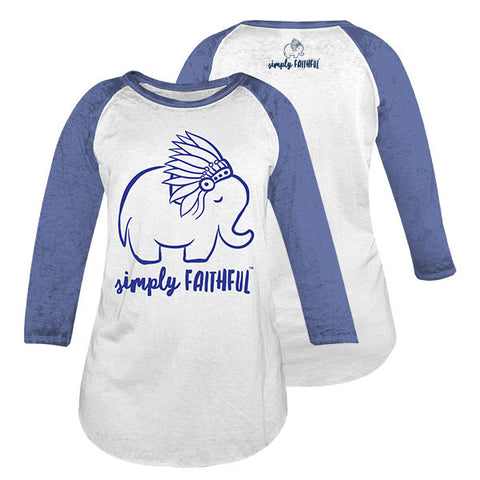 Simply Faithful By Simply Southern Elephant Royal Long Sleeve T-Shirt