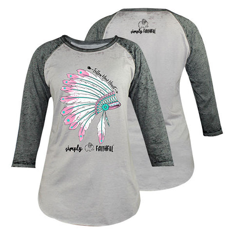 Simply Faithful By Simply Southern Follow Arrow Long Sleeve T-Shirt