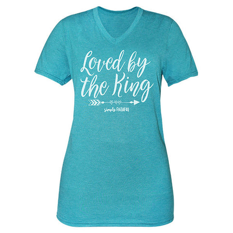 Simply Faithful By Simply Southern Loved By The King T-Shirt