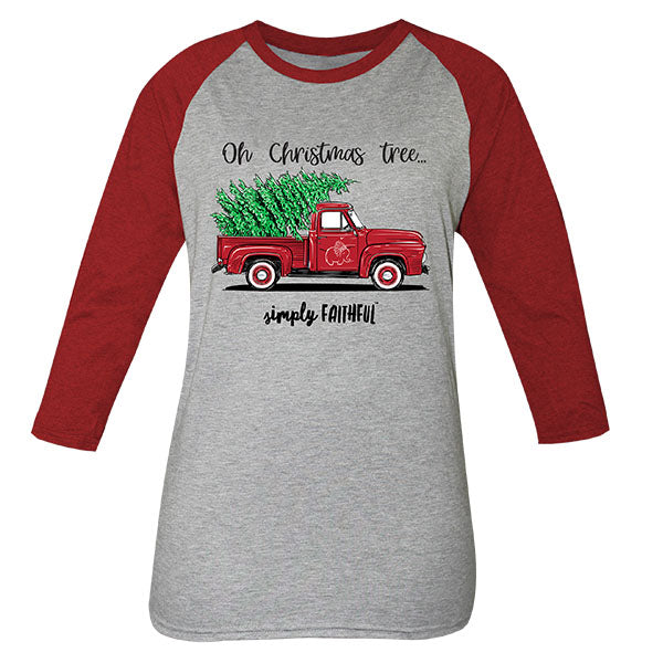 36b06e197ca2 Simply Faithful By Simply Southern Christmas Truck Long Sleeve T-Shirt |  SimplyCuteTees