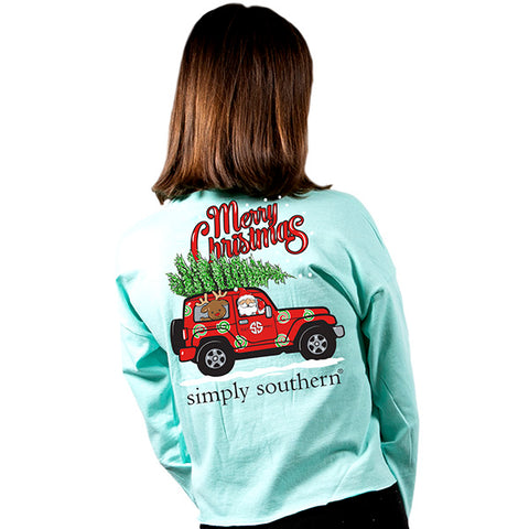 cc53a6ce Simply Southern Preppy Merry Christmas Shortie Long Sleeve T-Shirt
