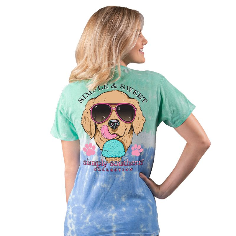 Simply Southern Preppy Simple & Sweet Dog Tie Dye T-Shirt
