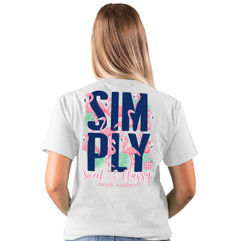 Simply Southern Preppy Sweet & Classy Flamingo T-Shirt