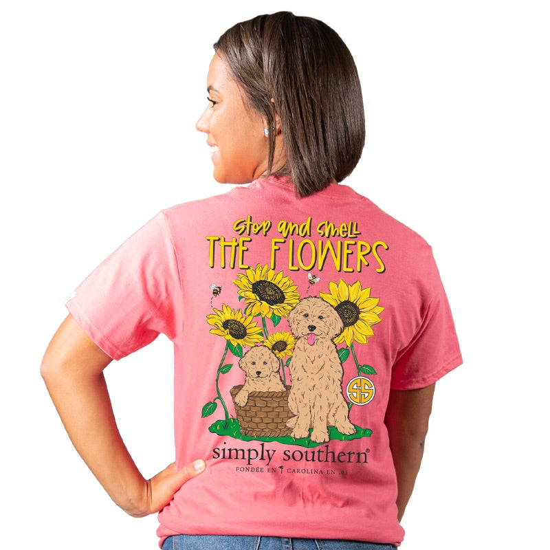 Simply Southern Preppy Stop And Smell The Flowers T-Shirt