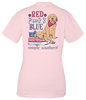Simply Southern Preppy USA Red Paws & Blue T-Shirt