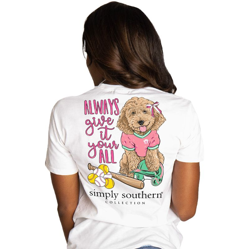 Simply Southern Preppy Softball Dog T-Shirt