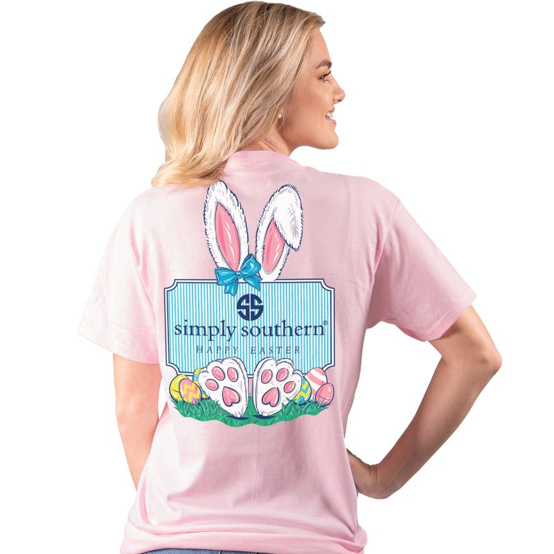Simply Southern Preppy Happy Easter Bunny Logo T-Shirt