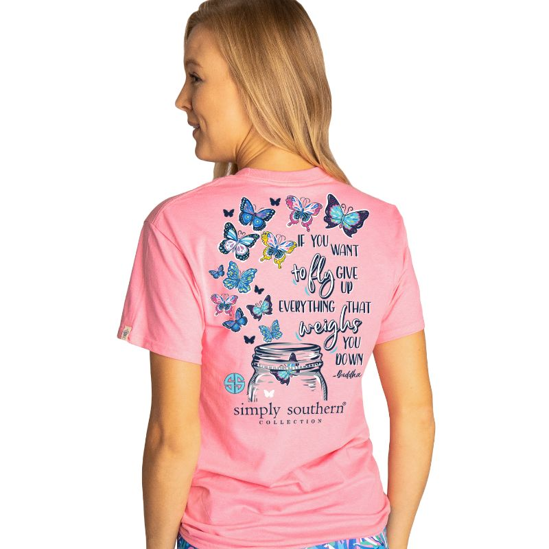 Simply Southern Preppy Butterfly Mason Jar T-Shirt