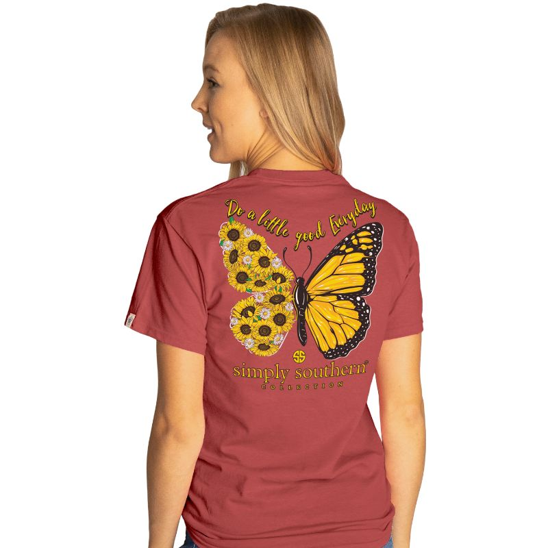 Simply Southern Preppy Do Good Butterfly T-Shirt