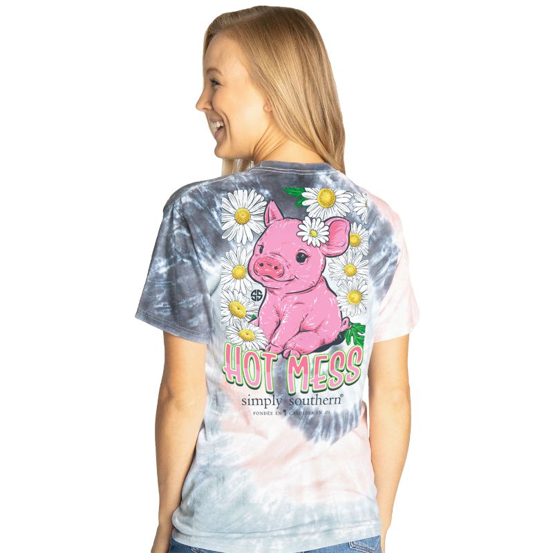 Simply Southern Preppy Hot Mess Pig T-Shirt