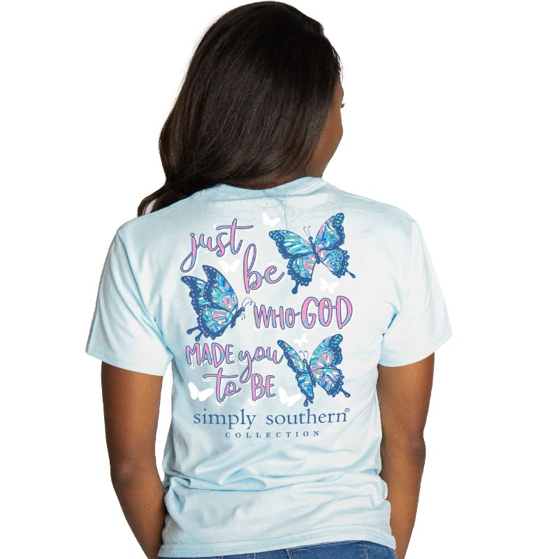 Simply Southern Preppy Made You To Be Butterfly T-Shirt