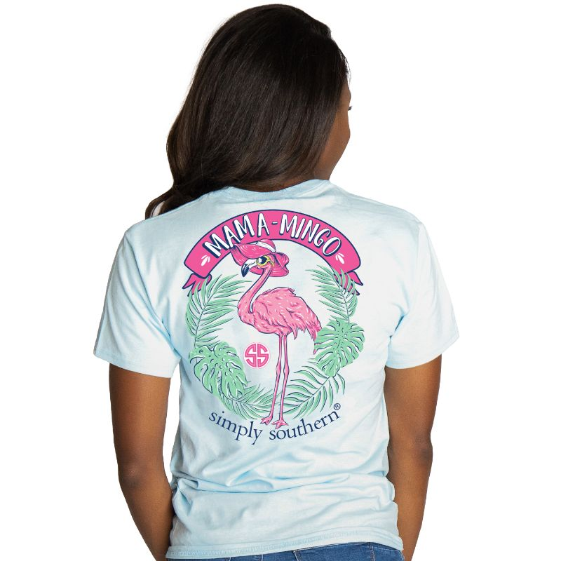 Simply Southern Preppy Mama Flamingo T-Shirt