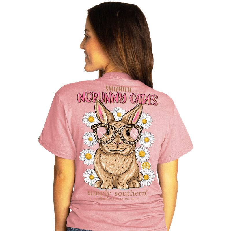 Simply Southern Preppy No Bunny Cares Logo Easter T-Shirt