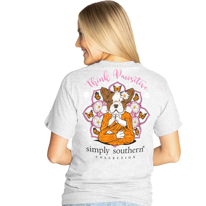 Simply Southern Preppy Think Pawsitive Dog T-Shirt