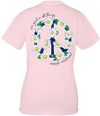 Simply Southern Preppy Peace Flower T-Shirt