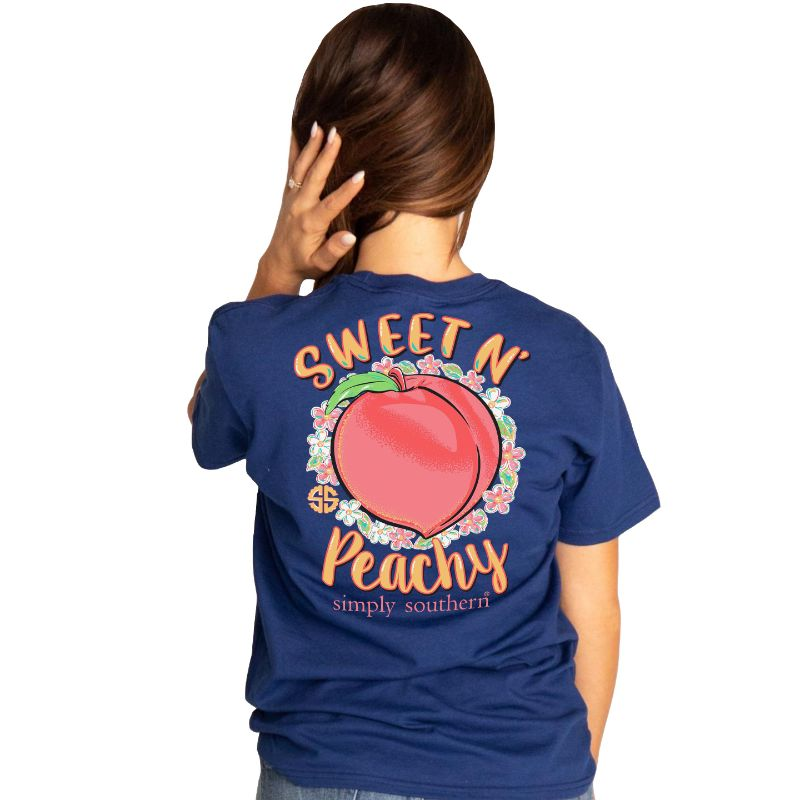 Simply Southern Preppy Sweet N Peachy T-Shirt