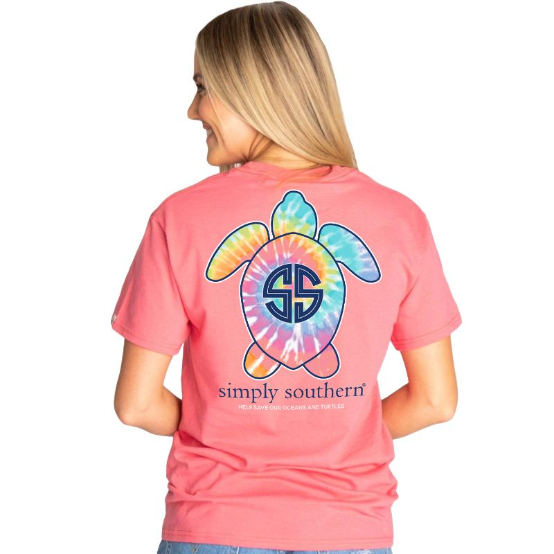 Simply Southern Save The Turtles Tie-dye Logo T-Shirt