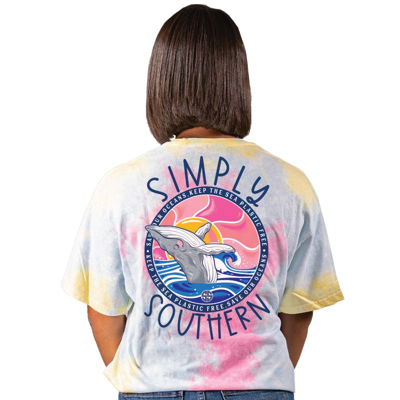 Simply Southern Preppy Plastic Free Whale T-Shirt