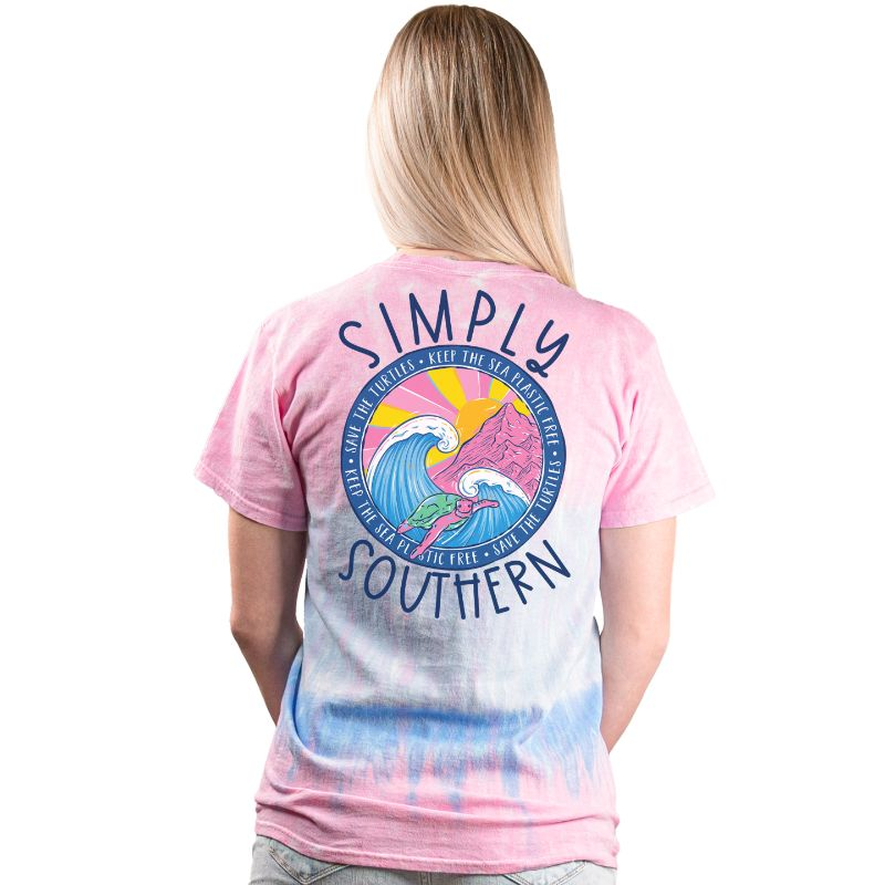 Simply Southern Save The Turtles Wave Candy T-Shirt