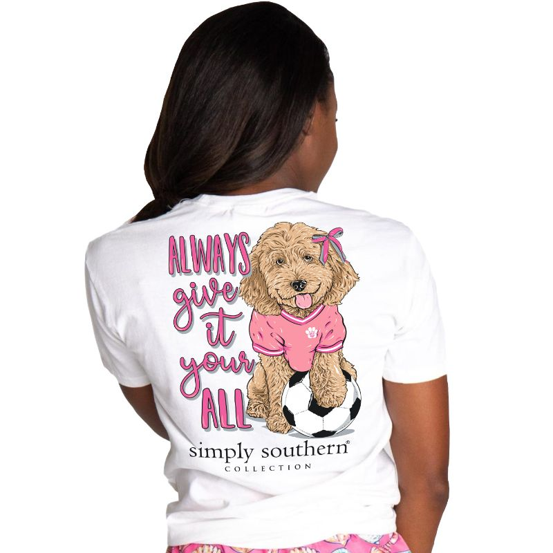 Simply Southern Preppy Dog Soccer T-Shirt