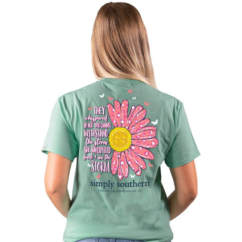 Simply Southern Preppy Storm Sunflower Butterfly T-Shirt