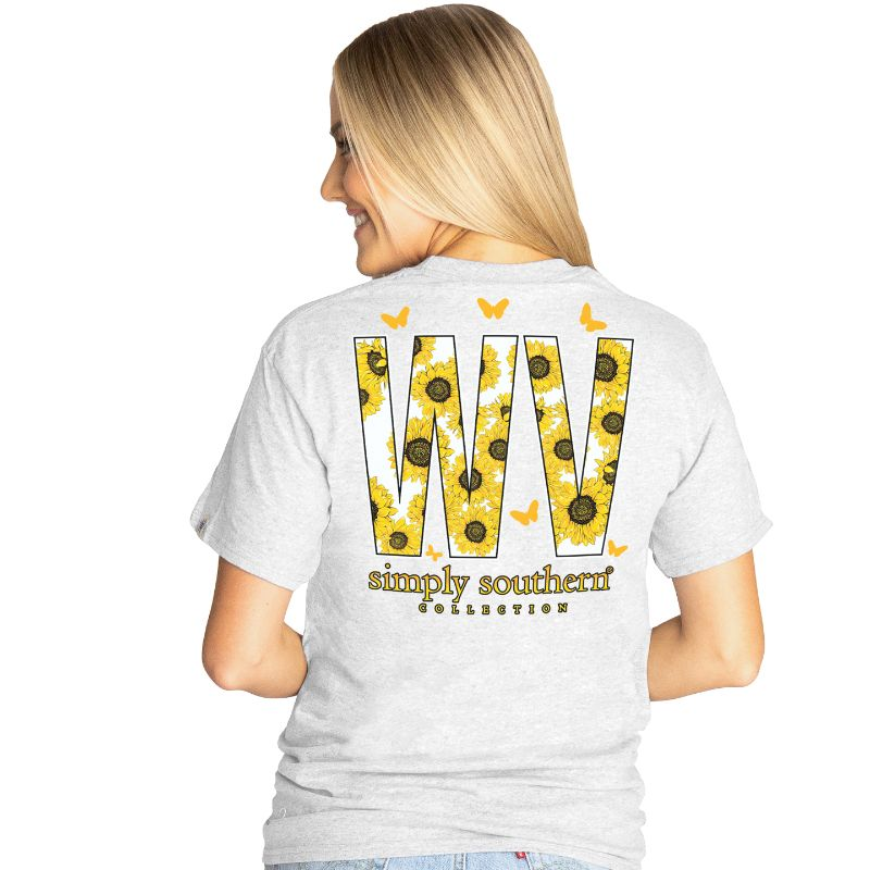 Simply Southern Preppy West Virginia Sunflower T-Shirt