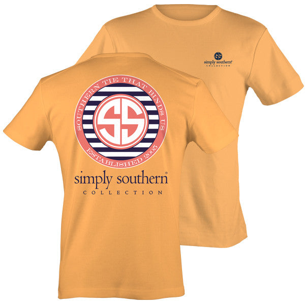 Simply southern preppy southern tie that binds us ss logo for Simply for sports brand t shirts