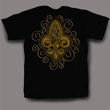 Sweet Thing Funny Black & Gold Fleur De Lis Girly Bright T-Shirt - SimplyCuteTees