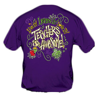 Sweet Thing Funny Learn It Teacher Purple Girlie Bright T-Shirt - SimplyCuteTees