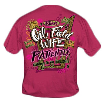 Sweet Thing Funny Spoiled Oil Field Wife Pink Girly Bright T Shirt - SimplyCuteTees