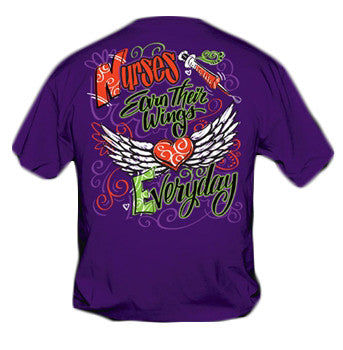 Sweet Thing Funny Nurses Wings Nurse Angel Girlie Bright T Shirt - SimplyCuteTees