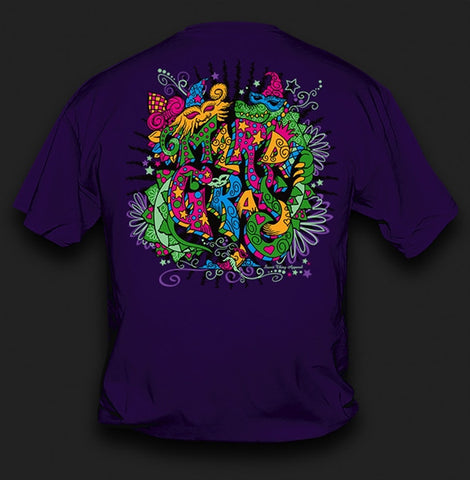 f892743cd0bb04 Sweet Thing Funny Mardi Gras Whimsy Fleur De Lis Mask Beads Girlie Bright T- Shirt