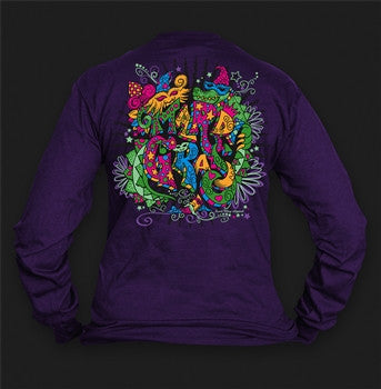 Sweet Thing Funny Mardi Gras Whimsy Mask Beads Fleur Girlie Bright Long Sleeve T-Shirt - SimplyCuteTees