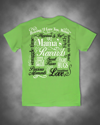 Sweet Thing Funny Mama Mom Mother Rewards Smiles Precious Moments Hugs Lime Girlie Bright T-Shirt - SimplyCuteTees