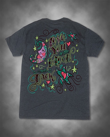 Sweet Thing I Love You to the Moon and Back Girlie Bright T-Shirt