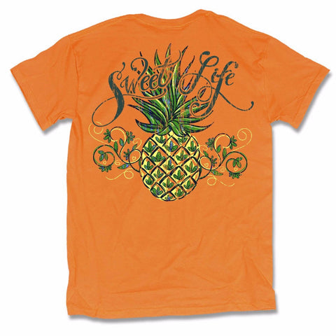 Sweet Thing Sweet Life Pineapple Girlie Bright T-Shirt