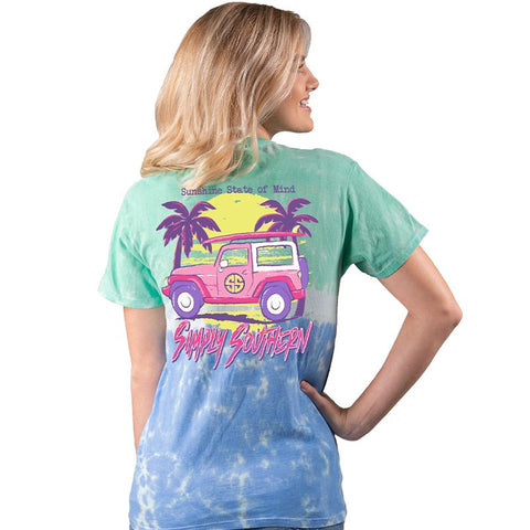 Simply Southern Preppy State Of Mind Jeep Tie Dye T-Shirt