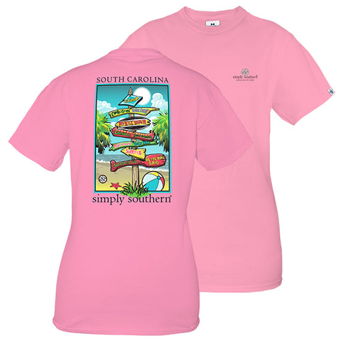 Simply Southern Preppy South Carolina State Signs T-Shirt