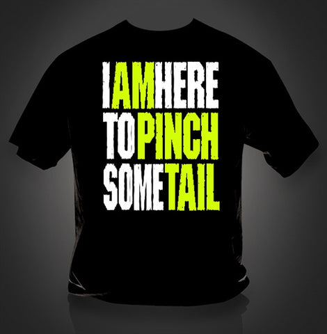 Southern Vine Originals Funny I am Here to Pinch Some Tail Crawfish Bright T-Shirt