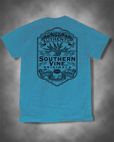 Southern Vine Originals Flagship Roots Run Deep Tree Blue Unisex Bright T Shirt - SimplyCuteTees