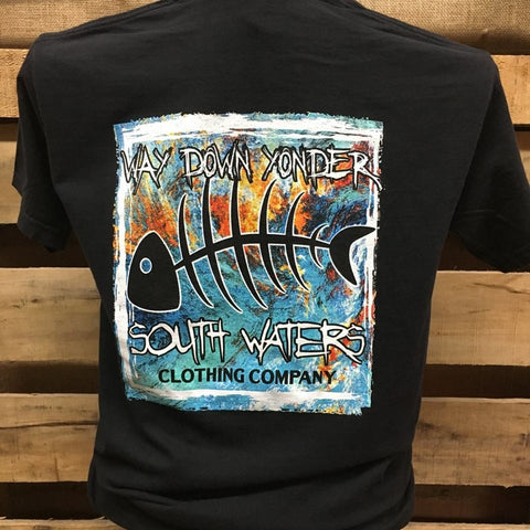 South Waters Comfort Colors Way Down Yonder Bone Fish Unisex Bright T Shirt