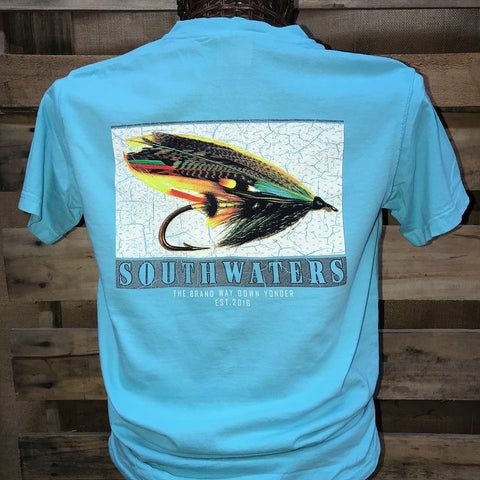 Backwoods South Waters Fishing Lure Bright Comfort Colors Unisex T Shirt