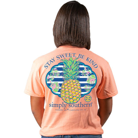 Simply Southern Preppy Stay Sweet Pineapple T-Shirt