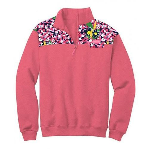 SALE Simply Southern Pullover Pink Daisy Pattern Long Sleeve Sweatshirt Jacket Sweater