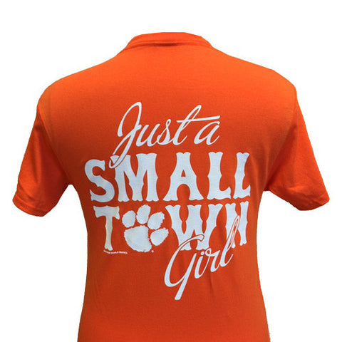 New South Carolina Clemson Tigers Small Town Girl Girlie Bright T Shirt