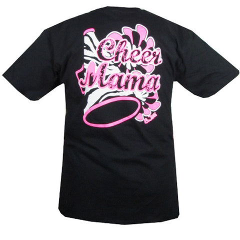 Bjaxx Cheer Mama Mom Cheerleading  Zebra  Sports Girlie Bright T Shirt - SimplyCuteTees